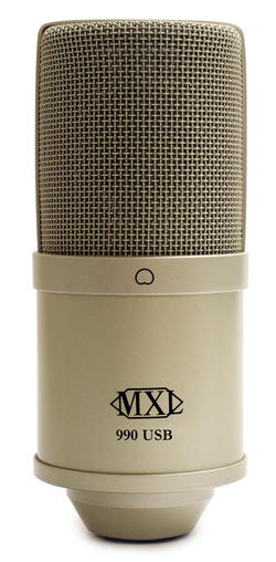 MXL introduces the 990 USB stereo condenser microphone